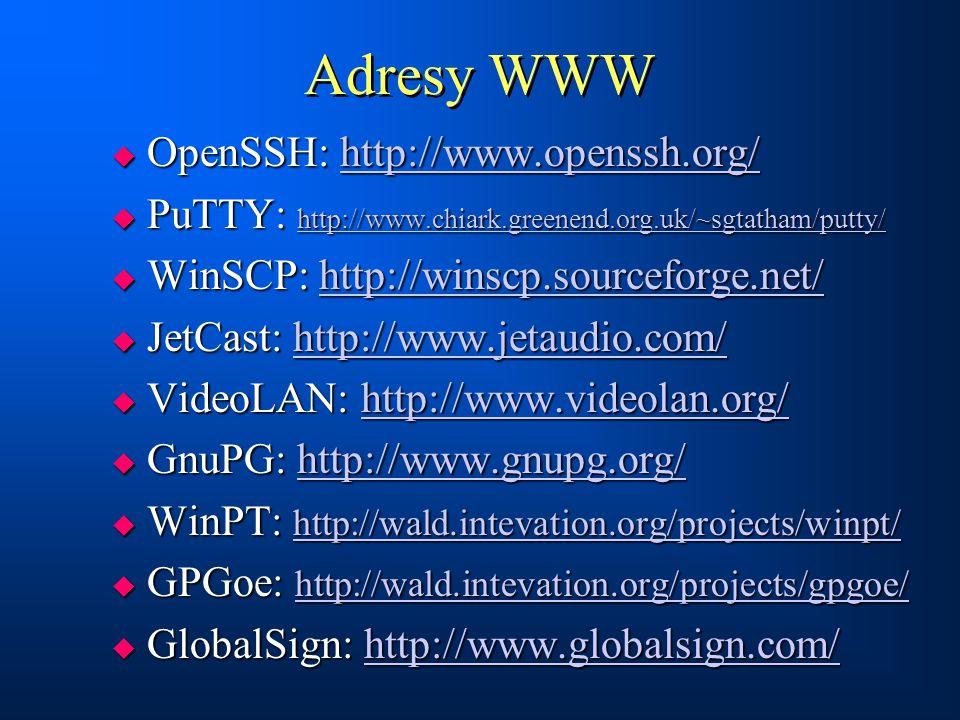 Adresy WWW OpenSSH: http://www.openssh.org/
