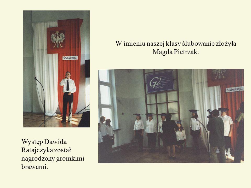 W imieniu naszej klasy ślubowanie złożyła Magda Pietrzak.