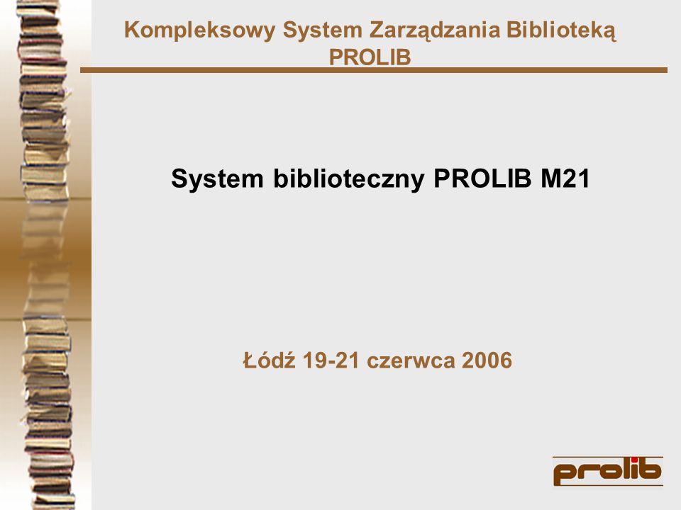 Kompleksowy System Zarządzania Biblioteką PROLIB