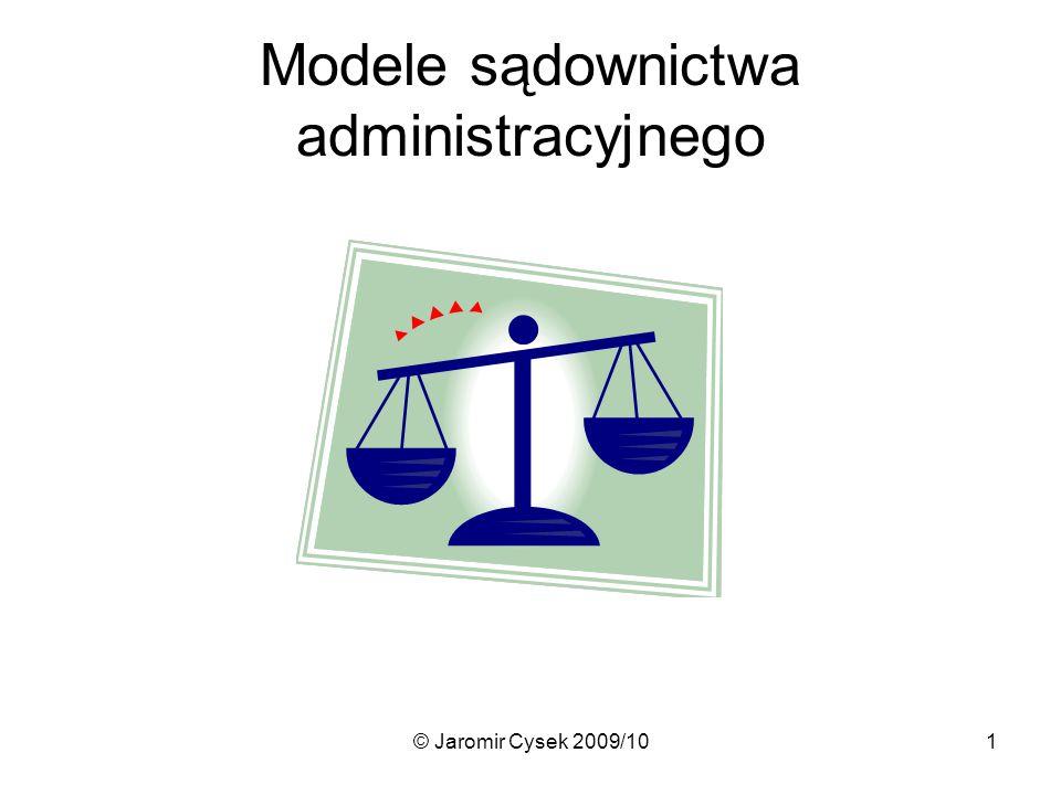 Modele sądownictwa administracyjnego