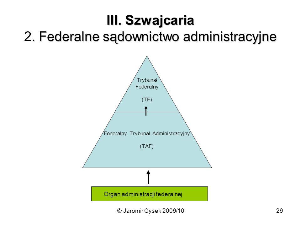 III. Szwajcaria 2. Federalne sądownictwo administracyjne