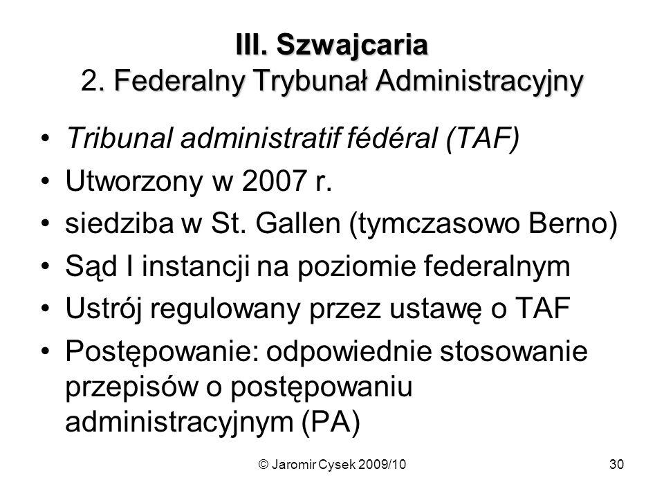 III. Szwajcaria 2. Federalny Trybunał Administracyjny