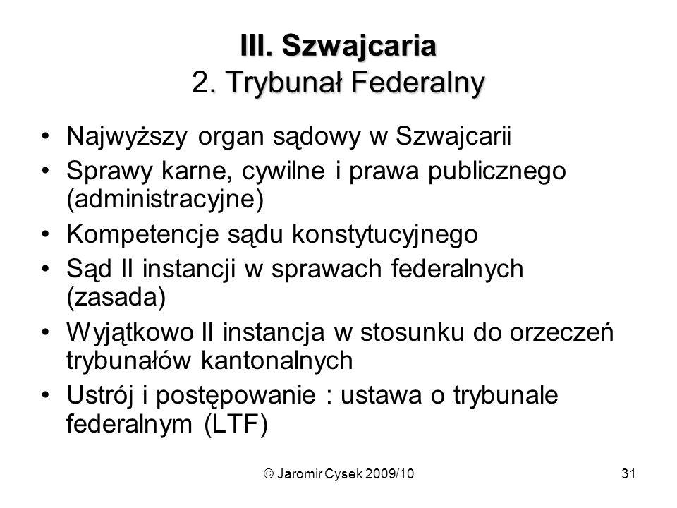 III. Szwajcaria 2. Trybunał Federalny