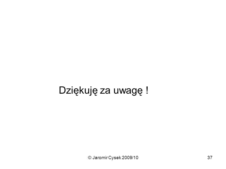 Dziękuję za uwagę ! © Jaromir Cysek 2009/10