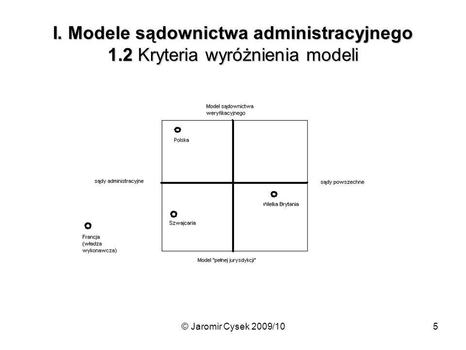 I. Modele sądownictwa administracyjnego 1
