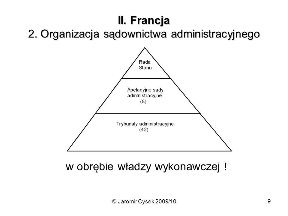II. Francja 2. Organizacja sądownictwa administracyjnego