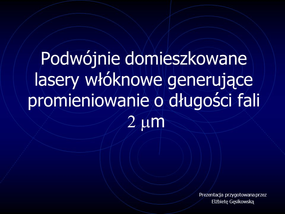 Prezentacja przygotowana przez Elżbietę Gęsikowską