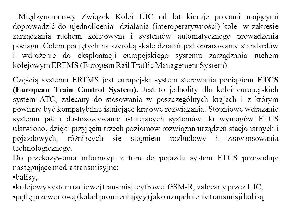 Międzynarodowy Związek Kolei UIC od lat kieruje pracami mającymi doprowadzić do ujednolicenia działania (interoperatywności) kolei w zakresie zarządzania ruchem kolejowym i systemów automatycznego prowadzenia pociągu. Celem podjętych na szeroką skalę działań jest opracowanie standardów i wdrożenie do eksploatacji europejskiego systemu zarządzania ruchem kolejowym ERTMS (European Rail Traffic Management System).