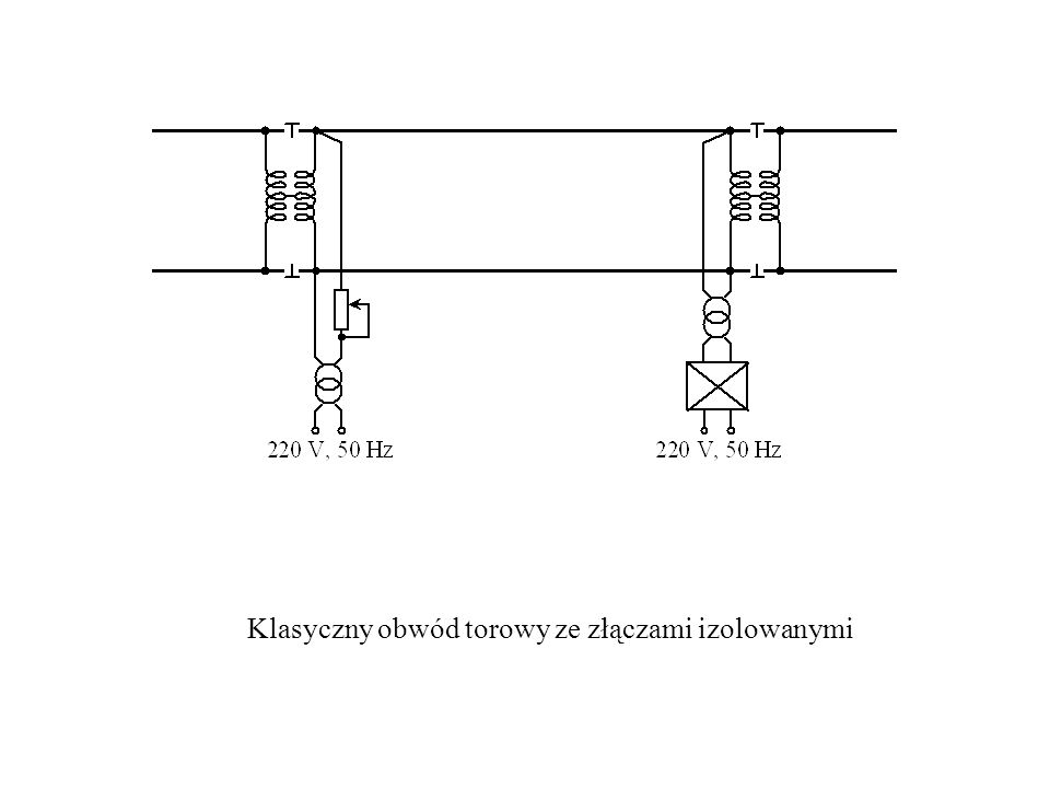 Klasyczny obwód torowy ze złączami izolowanymi