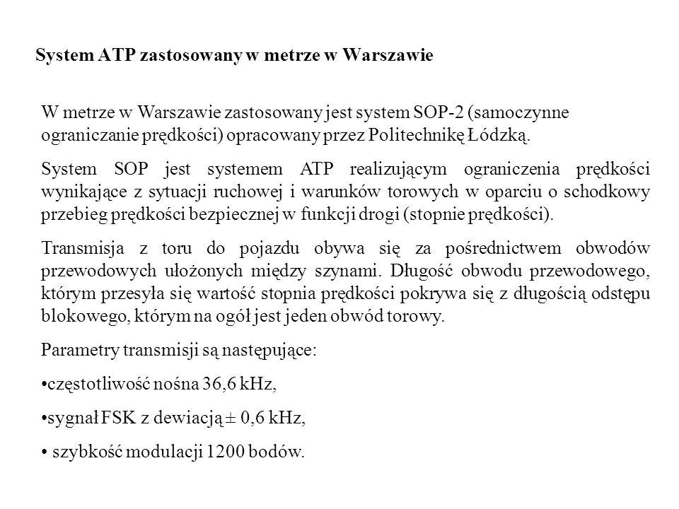 System ATP zastosowany w metrze w Warszawie