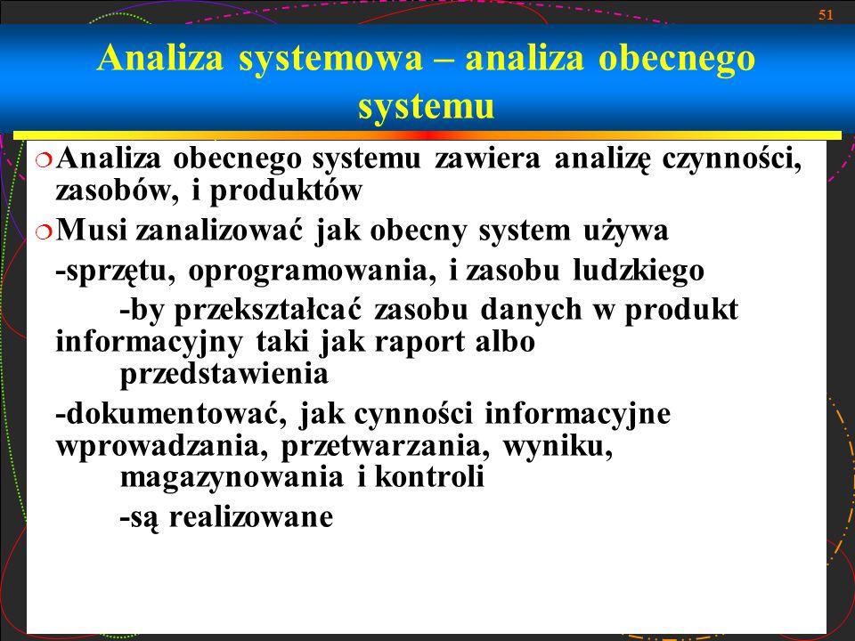 Analiza systemowa – analiza obecnego systemu
