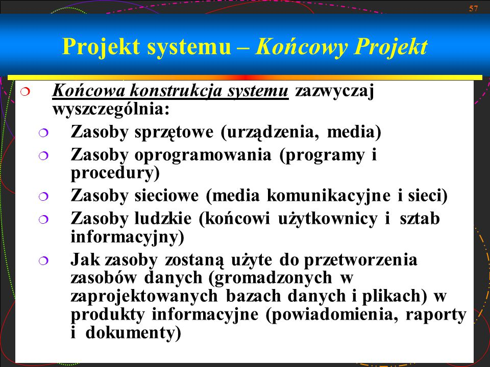 Projekt systemu – Końcowy Projekt