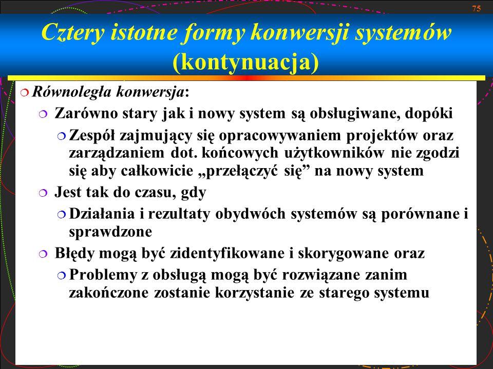 Cztery istotne formy konwersji systemów (kontynuacja)