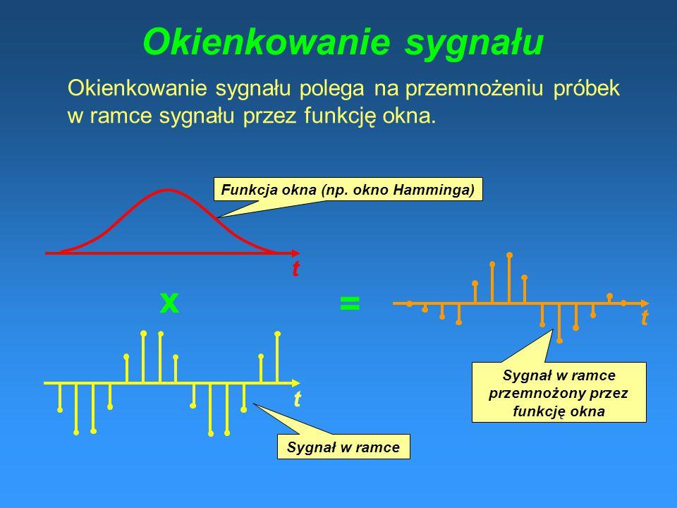 Okienkowanie sygnału x =