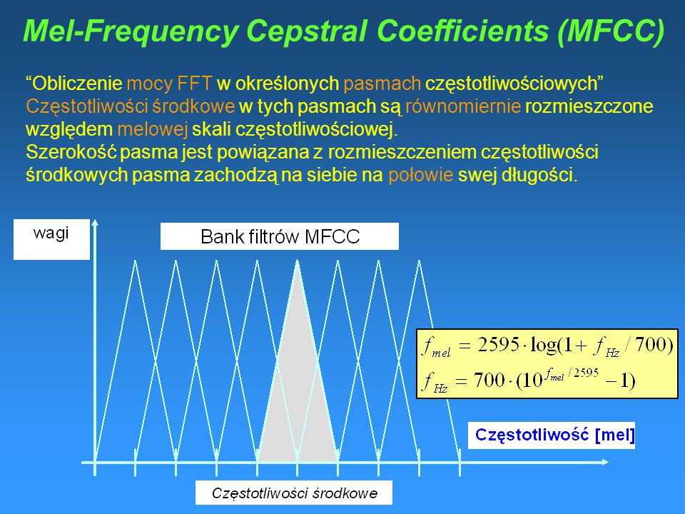 Mel-Frequency Cepstral Coefficients (MFCC)