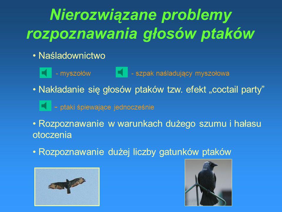Nierozwiązane problemy rozpoznawania głosów ptaków