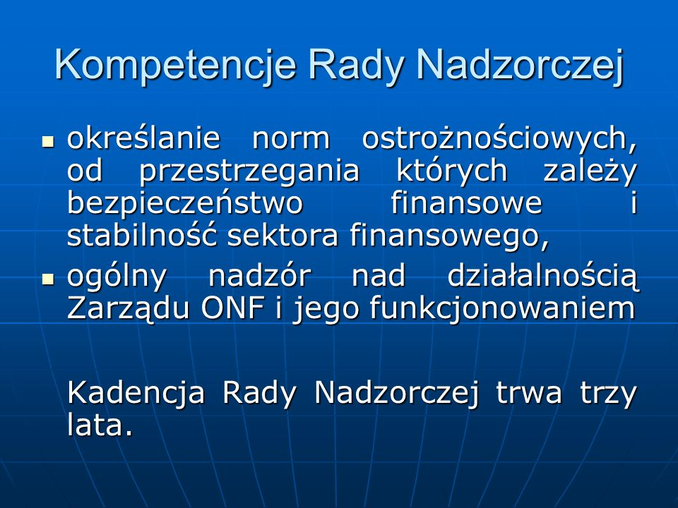 Kompetencje Rady Nadzorczej