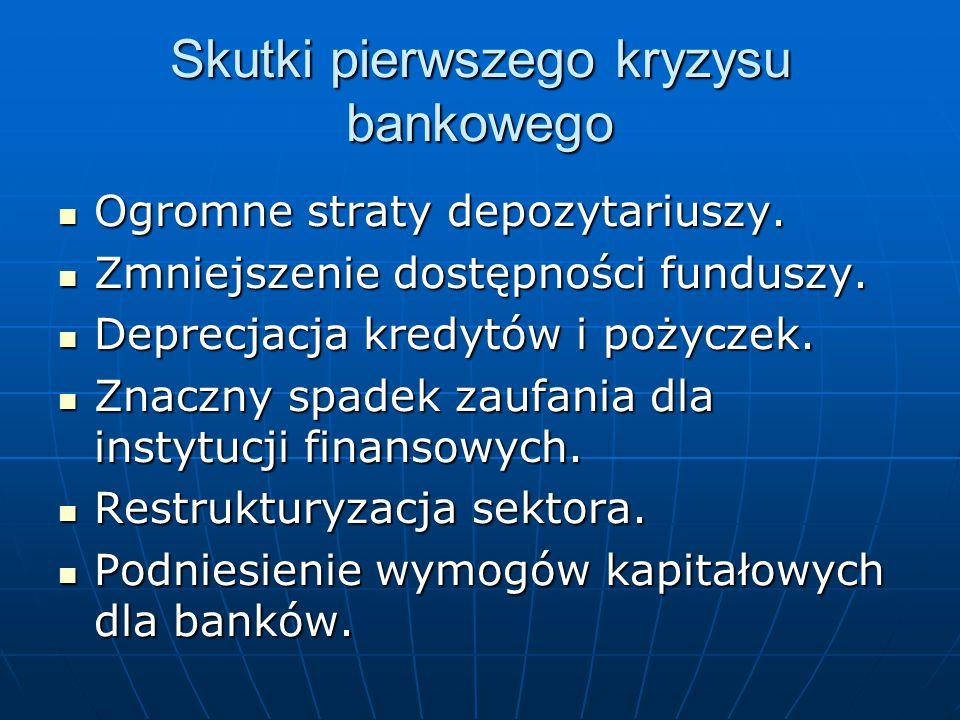 Skutki pierwszego kryzysu bankowego