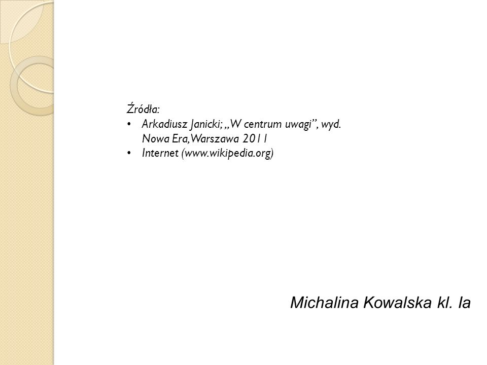 Michalina Kowalska kl. Ia