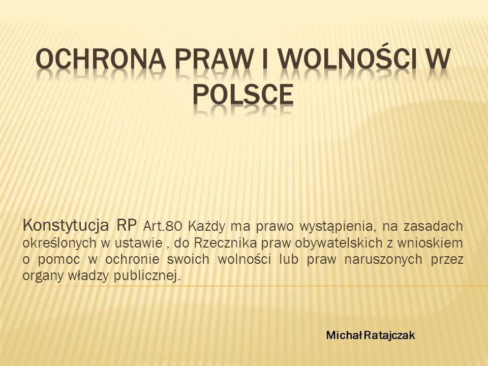 Ochrona praw i wolności w Polsce