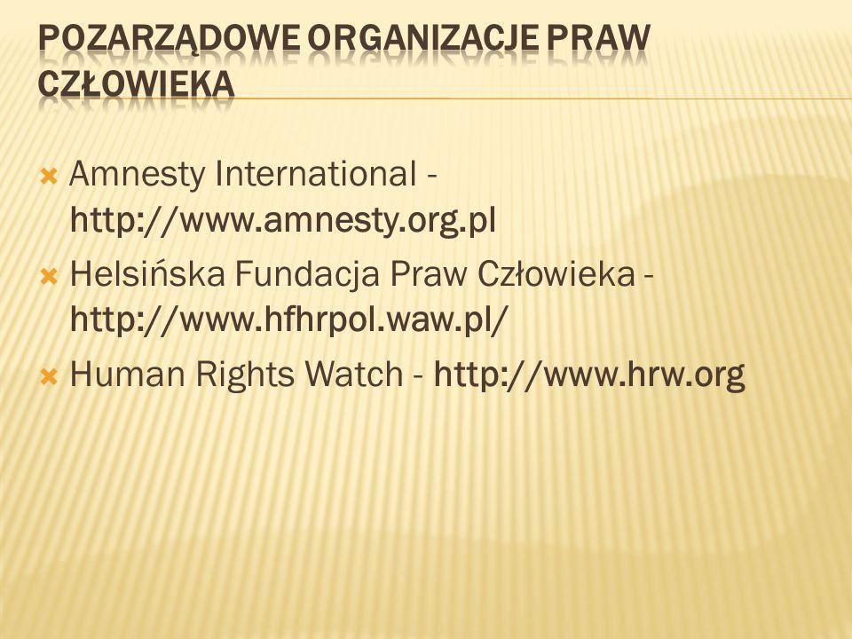 Pozarządowe organizacje praw człowieka