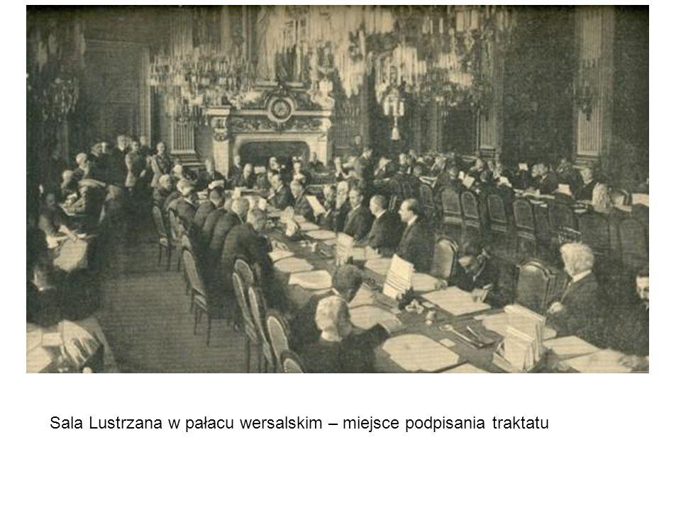 Sala Lustrzana w pałacu wersalskim – miejsce podpisania traktatu