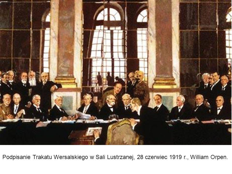 Podpisanie Trakatu Wersalskiego w Sali Lustrzanej, 28 czerwiec 1919 r