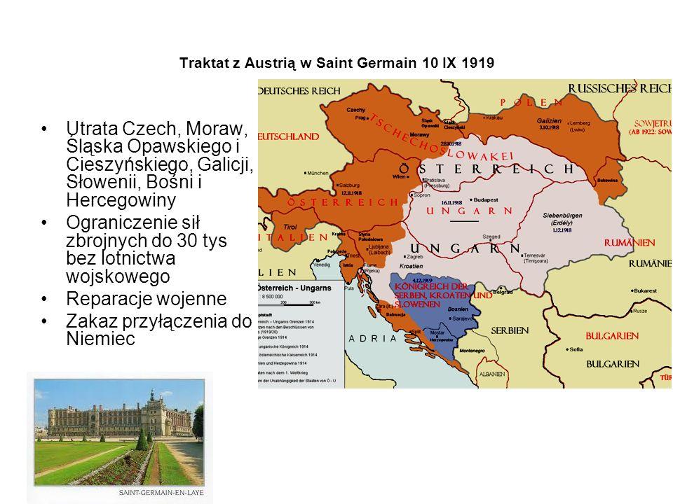 Traktat z Austrią w Saint Germain 10 IX 1919