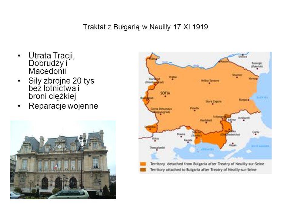 Traktat z Bułgarią w Neuilly 17 XI 1919