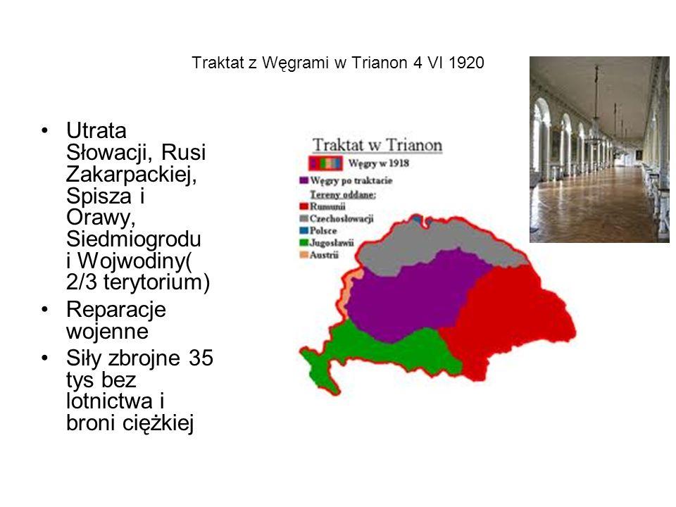 Traktat z Węgrami w Trianon 4 VI 1920