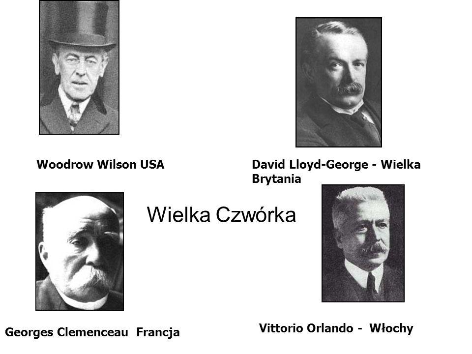 Wielka Czwórka Woodrow Wilson USA David Lloyd-George - Wielka Brytania