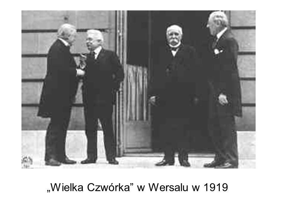"""""""Wielka Czwórka w Wersalu w 1919"""
