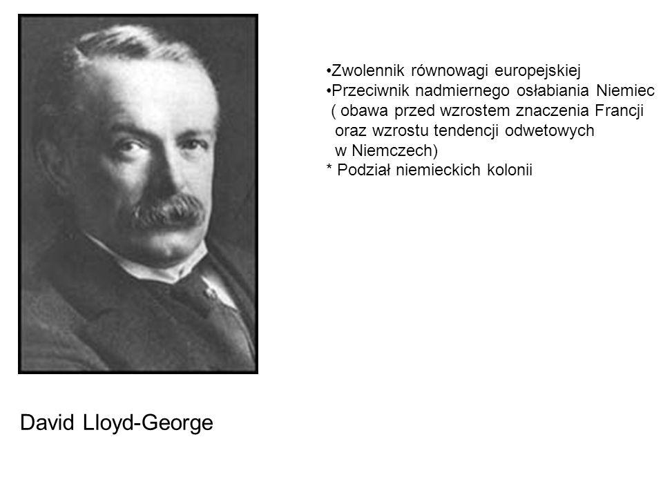 David Lloyd-George Zwolennik równowagi europejskiej