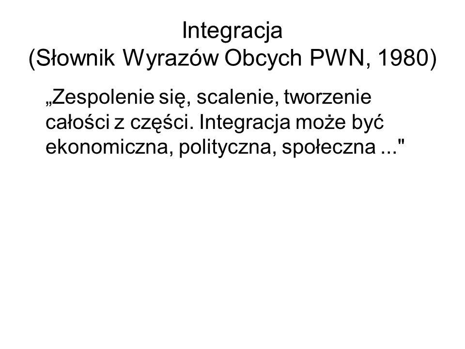 Integracja (Słownik Wyrazów Obcych PWN, 1980)