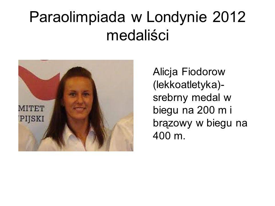 Paraolimpiada w Londynie 2012 medaliści
