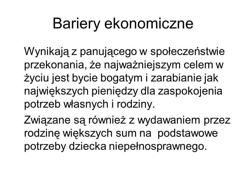 Bariery ekonomiczne