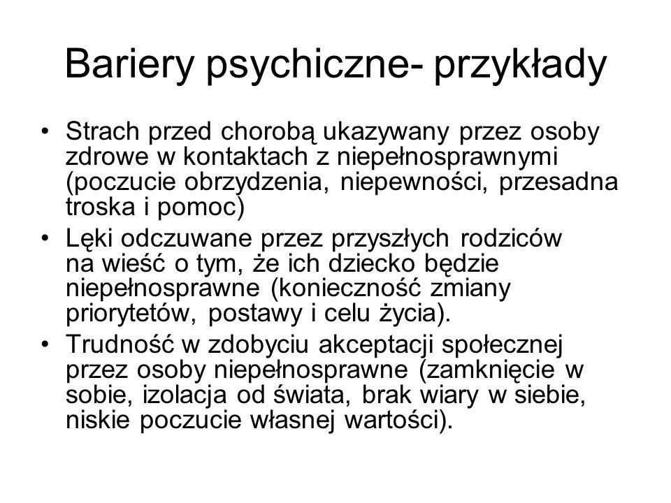 Bariery psychiczne- przykłady