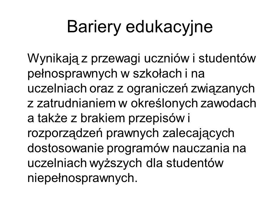 Bariery edukacyjne