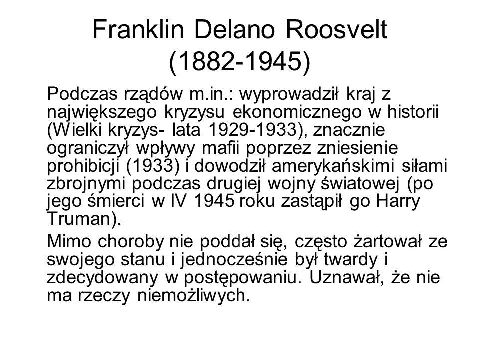 Franklin Delano Roosvelt (1882-1945)