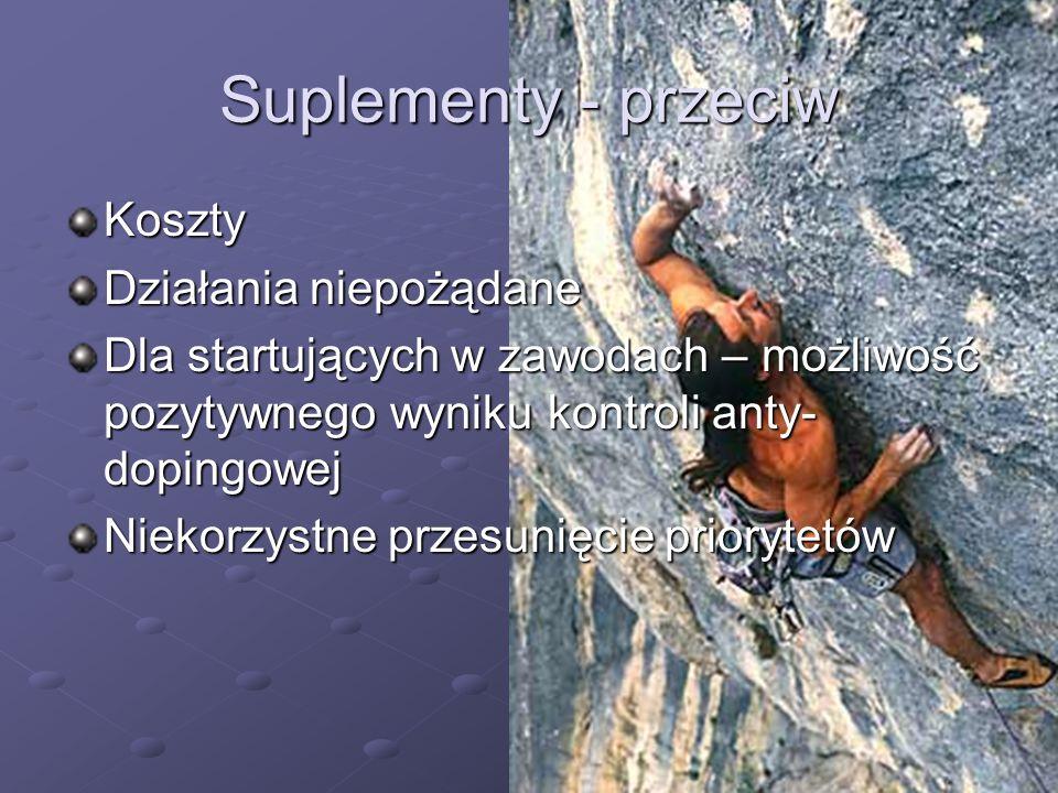 Suplementy - przeciw Koszty Działania niepożądane