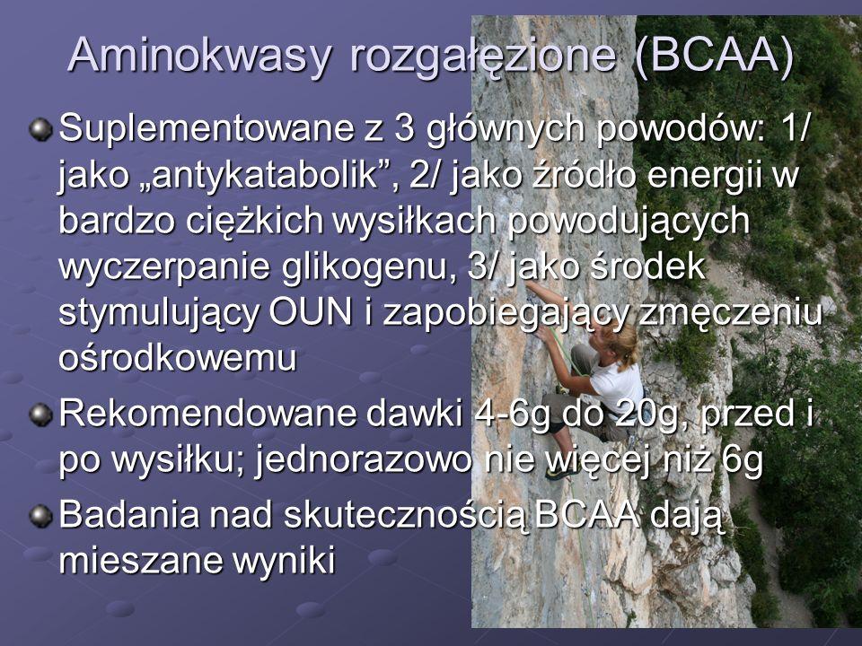 Aminokwasy rozgałęzione (BCAA)