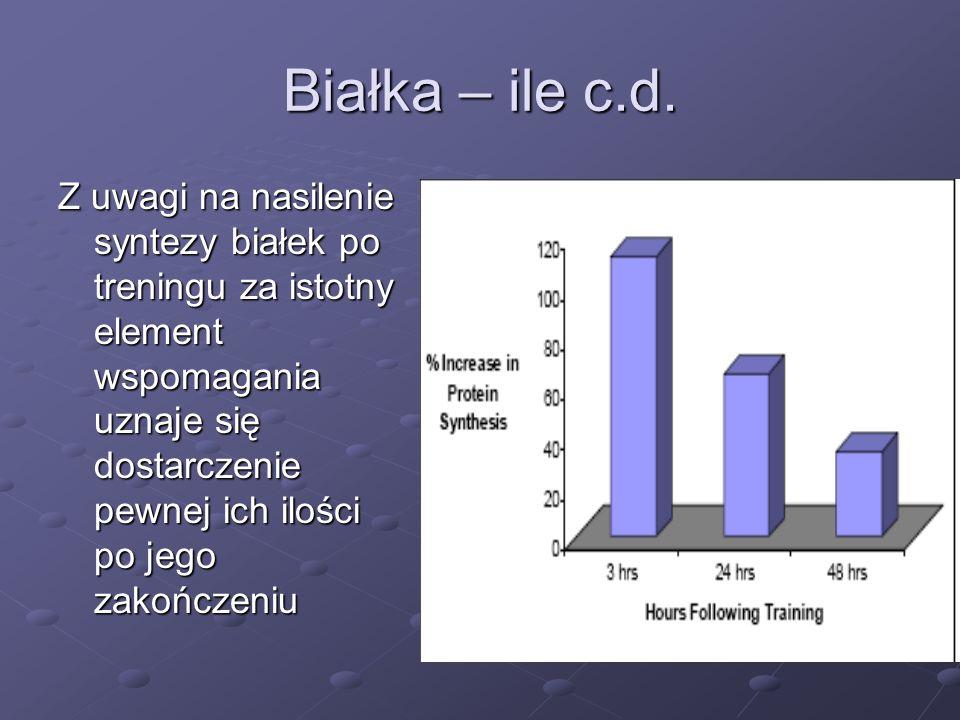 Białka – ile c.d.