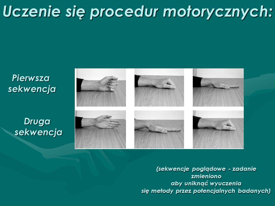 Uczenie się procedur motorycznych: