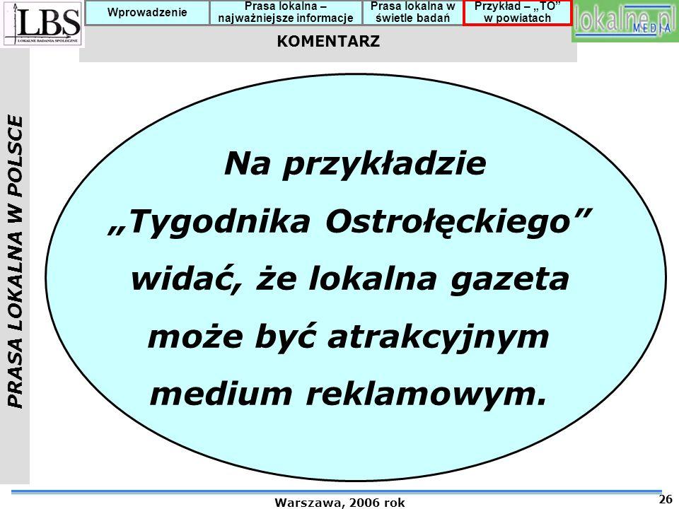 """""""Tygodnika Ostrołęckiego widać, że lokalna gazeta"""