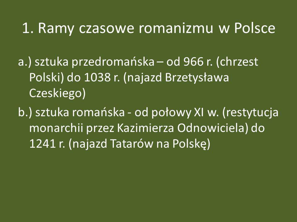 1. Ramy czasowe romanizmu w Polsce