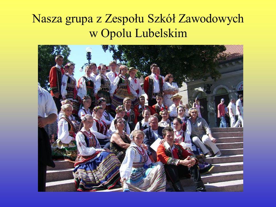 Nasza grupa z Zespołu Szkół Zawodowych w Opolu Lubelskim