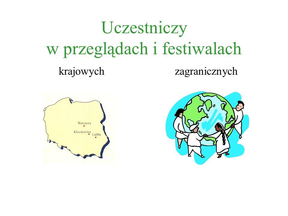 Uczestniczy w przeglądach i festiwalach