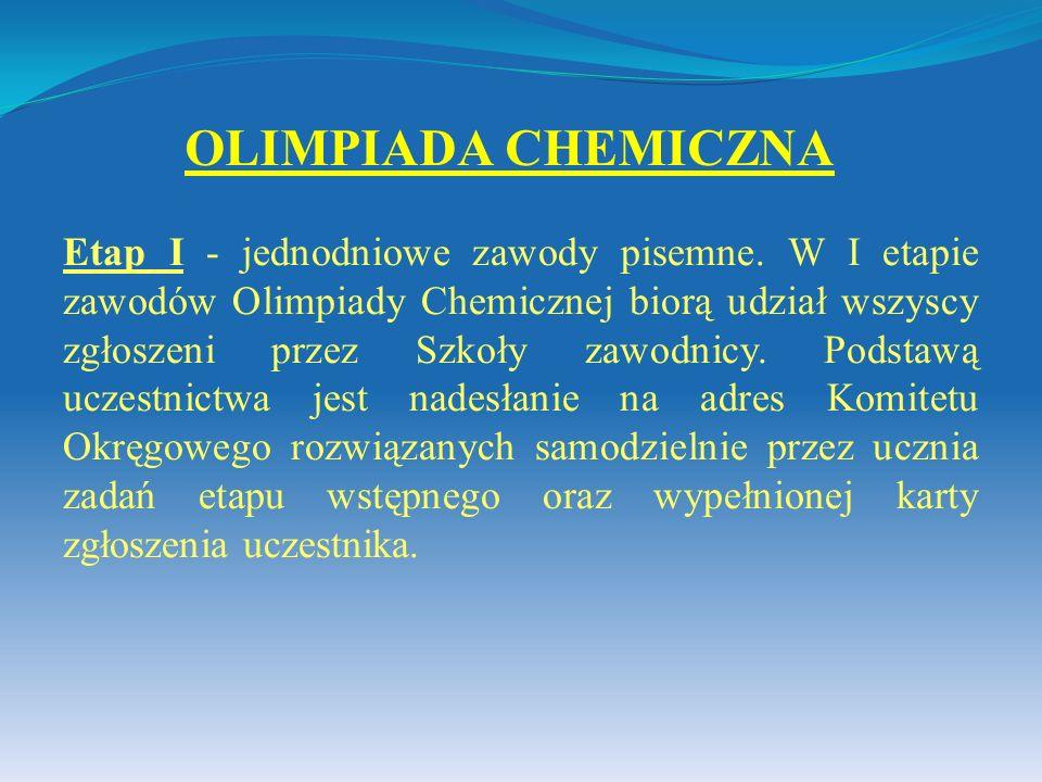 OLIMPIADA CHEMICZNA