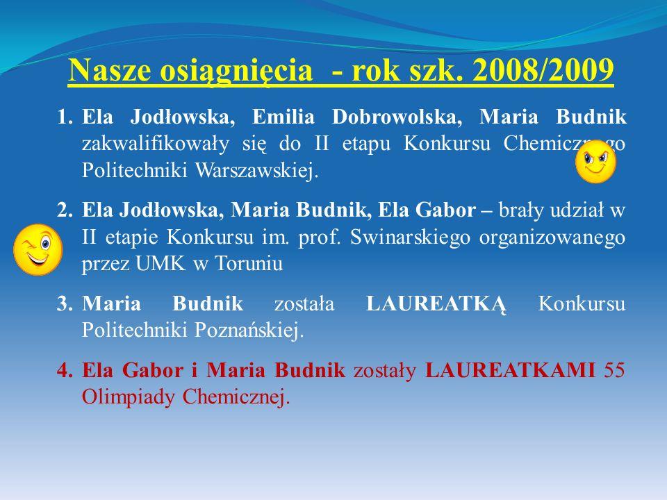 Nasze osiągnięcia - rok szk. 2008/2009