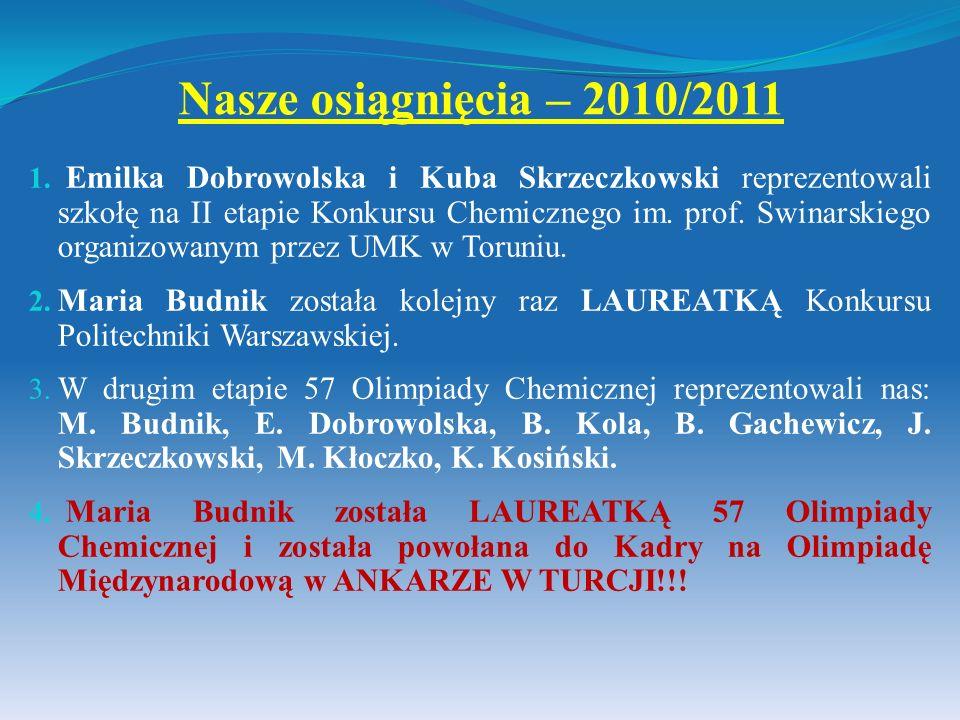 Nasze osiągnięcia – 2010/2011